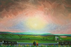 By the Lock by Mackenzie Thorpe -  sized 40x27 inches. Available from Whitewall Galleries